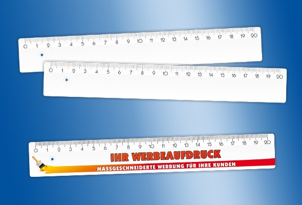 WERBELINEAL 20 cm weiß