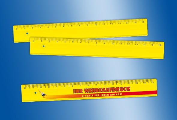 WERBELINEAL 16 cm gelb