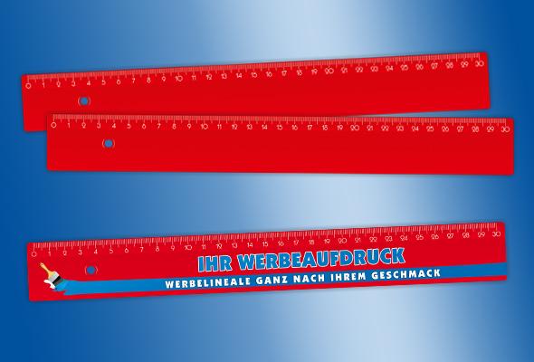 werbelineal 30 cm rot bestellen aktiv werbung freiberg. Black Bedroom Furniture Sets. Home Design Ideas